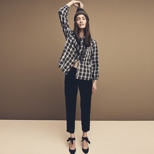 J Crew Collection crepe pleated pānts